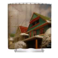 Winter On Rugby Road Shower Curtain