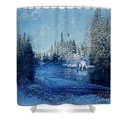 Winter Paradise Shower Curtain by Lianne Schneider