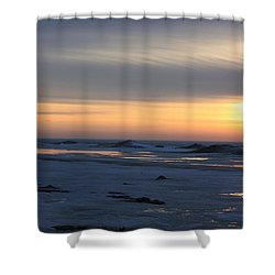 Winter Sleeps Shower Curtain