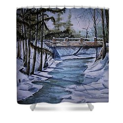 Winter Solitude Shower Curtain by Marylyn Wiedmaier