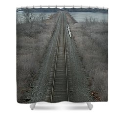 Shower Curtain featuring the photograph Winter Tracks  by Neal Eslinger