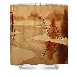 Winterbend Shower Curtain by Jeff Lucas