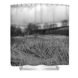 Shower Curtain featuring the photograph Winters Breeze by Kathleen Grace