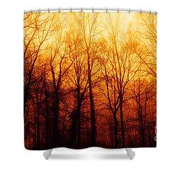 Winters Harvest Shower Curtain