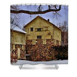 Shower Curtain featuring the photograph Winters Mill by Rachel Cohen