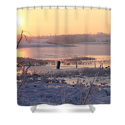 Shower Curtain featuring the photograph Winter's Morning by Elizabeth Winter