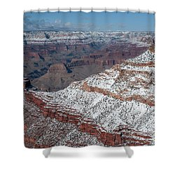 Winter's Touch At The Grand Canyon Shower Curtain by Sandra Bronstein