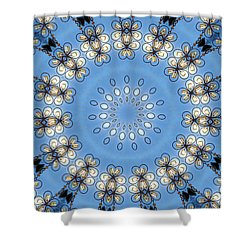 Wire Flowers And Butterflies Shower Curtain by Kristie  Bonnewell