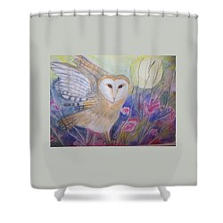 Wise Moon Shower Curtain by Belinda Lawson