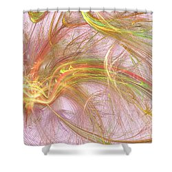 Shower Curtain featuring the digital art Wispy Willow by Kim Sy Ok