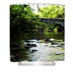Wissahickon Bridge Shower Curtain by Bill Cannon