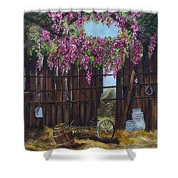 Wisteria Shower Curtain by Jan Holman