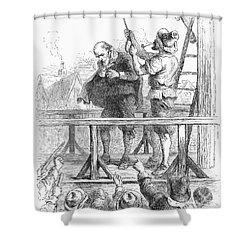 Witch Trial: Execution, 1692 Shower Curtain by Granger