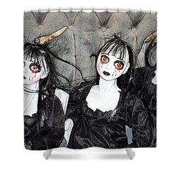 Witches Of Hallow's Eve Shower Curtain by Elizabeth Winter