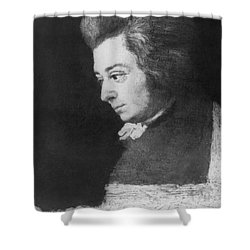 Wolfgang Amadeus Mozart, Austrian Shower Curtain by Omikron