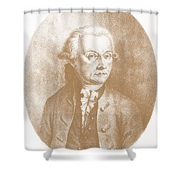 Wolfgang Amadeus Mozart, Austrian Shower Curtain by Photo Researchers, Inc.