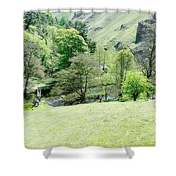 Wolfscote Dale From Gipsy Bank Shower Curtain by Rod Johnson