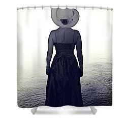 Woman At The Shore Shower Curtain by Joana Kruse