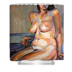 Woman Nude Shower Curtain by Stan Esson