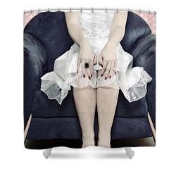 Woman On Chair Shower Curtain by Joana Kruse