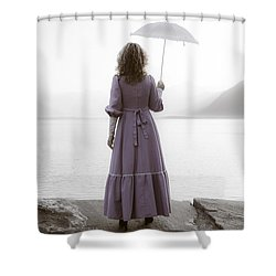 Woman With Parasol Shower Curtain by Joana Kruse