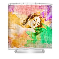 Woman's Soul Part 1 Shower Curtain by Mo T