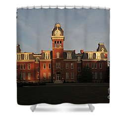 Woodburn In The Morning Shower Curtain by Dan Friend