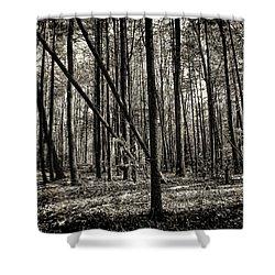 Woodland Shower Curtain by Lourry Legarde