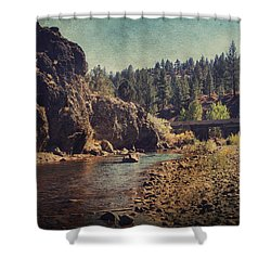 Words Left Unspoken Shower Curtain by Laurie Search