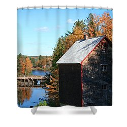 Shower Curtain featuring the photograph Working Gristmill by Barbara McMahon