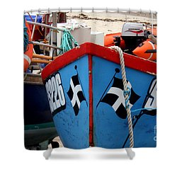 Working Harbour Shower Curtain by Terri Waters