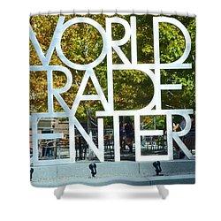 World Trade Center Shower Curtain by Kathleen Struckle