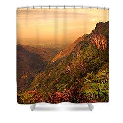 Worlds End. Horton Plains National Park. Sri Lanka Shower Curtain by Jenny Rainbow