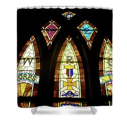 Wrc Stained Glass Window Shower Curtain by Thomas Woolworth