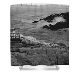 Wreck Site Shower Curtain by Rick Frost
