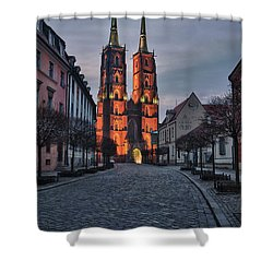 Wroclaw Cathedral Shower Curtain