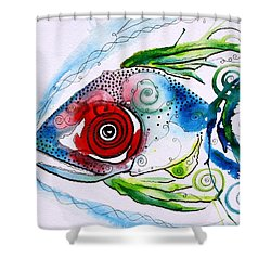 Wtfish 001 Shower Curtain by J Vincent Scarpace