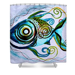 Wtfish 006 Shower Curtain
