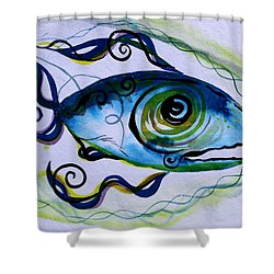 Wtfish 009 Shower Curtain by J Vincent Scarpace