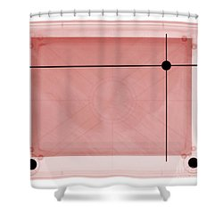 X-ray Of Etch A Sketch Shower Curtain by Ted Kinsman