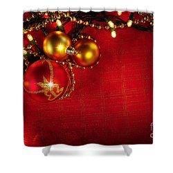 Xmas Frame Shower Curtain by Carlos Caetano