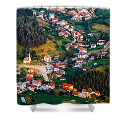 Yagodina Village Shower Curtain by Evgeni Dinev