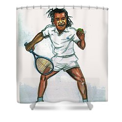 Yannick Noah Shower Curtain