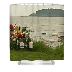 Yard Art Shower Curtain by Paul Mangold