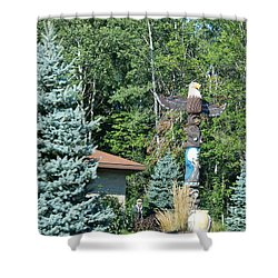 Yard Totem Shower Curtain