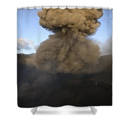 Yasur Eruption, Tanna Island, Vanuatu Shower Curtain by Martin Rietze