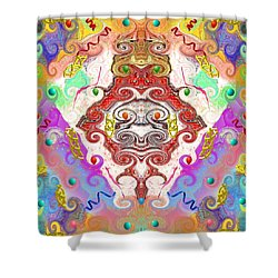 Shower Curtain featuring the digital art Year Of The Dragon by Alec Drake