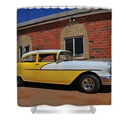 Yellow Beast Shower Curtain by Joel Witmeyer