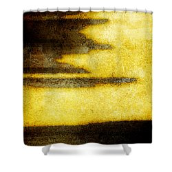 Yellow Shower Curtain by Brett Pfister