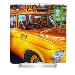 Yellow Cab No.29 Shower Curtain by Dan Stone